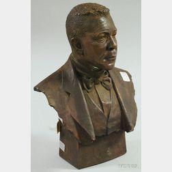 Patinated Copper-clad Bust of George Washington Carver