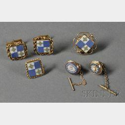 Six Wedgwood Jasper Gold Mounted Jewelry Items