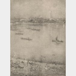 James Abbott McNeill Whistler (American, 1834-1903)      The Thames