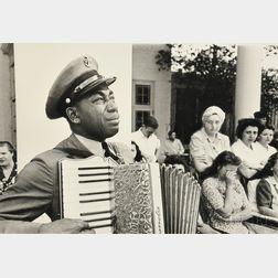 Ed Clark (American, 1911-2000)      FDR Funeral, Warm Springs, Georgia