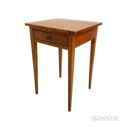 Eldred Wheeler Federal-style Tiger Maple One-drawer Stand