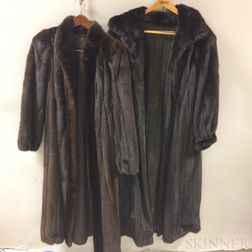 Two Full-length Mink Coats