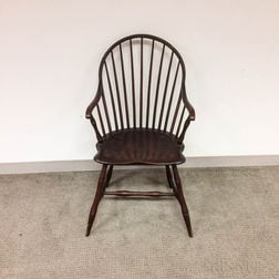 Bamboo-turned Continuous-arm Windsor Chair