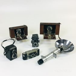 Group of Five Cameras for Parts or Repair