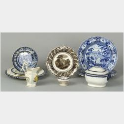 Group of Eleven Assorted English Pottery Tablewares