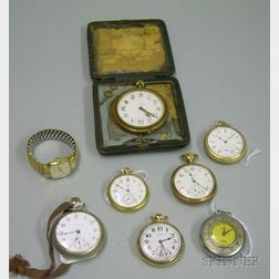 Eight Assorted Pocket and Wristwatches
