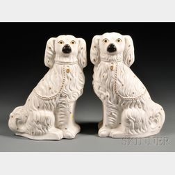 Pair of Victorian Staffordshire Spaniels