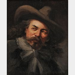 Henry Raschen (American, 1854-1937)      Portrait of a Man, Possibly Buffalo Bill Cody