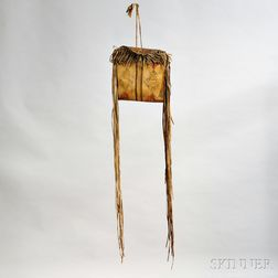 Crow Painted Buffalo Hide Parfleche