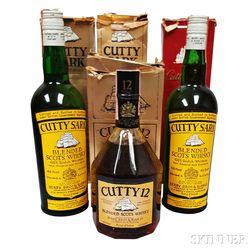 Cutty Sark, 4 4/5 quart bottles (2 oc) 2 750ml bottles (oc)