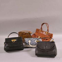 Five Assorted Handbags