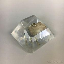 Cartier Sterling-mounted Lucite Penholder