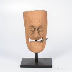 Carved Franklin Delano Roosevelt Mask
