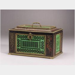 Anglo-Indian Boulle Inlay and Ivory Casket