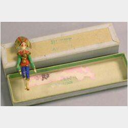 Tiny Wooden Grodnertal Soldier in Maison Huret Box