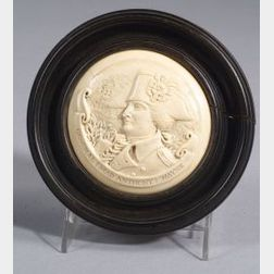 Carved Ivory Plaque of General (Mad Anthony) Wayne