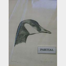 Pair of Framed Consuelo Eames Hanks Goose Prints