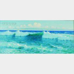 Lionel Walden (American, 1861-1933)    Breaking Waves