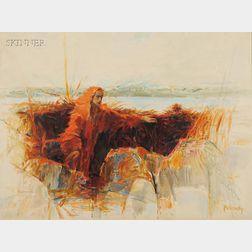 Arthur Polonsky (American, b. 1925)      River and Flame