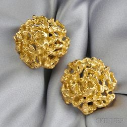 18kt Gold Cuff Links, Arthur King
