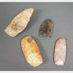 Four African Neolithic Stone Axes