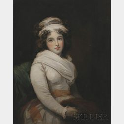 Attributed to John Hoppner (British, 1758-1810)      Portrait of a Lady.