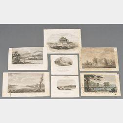 Seven Small Engravings of American Scenes