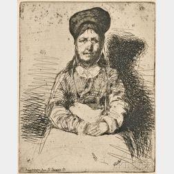 James Abbott McNeill Whistler (American, 1834-1903)      La Rétameuse