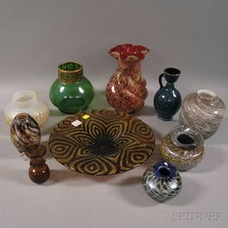Ten Pieces of Art Glass