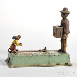 "Hubley Manufacturing Co. ""Monkey"" Mechanical Bank"