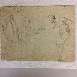 Continental School, 17th/18th Century    Study of Male Figures