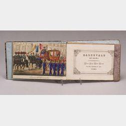 Grand Tour Hand-Colored Book of Scenes from the Carnivale di Roma