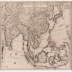 China. Guillaume Delisle (1675-1726) Carte des Indes et de la Chine.