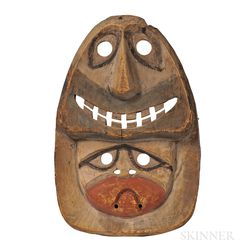 Eskimo Wood Polychrome Mask