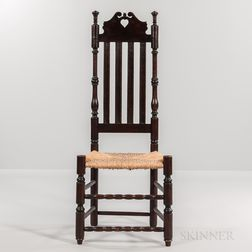 Bannister-back Heart and Crown Side Chair