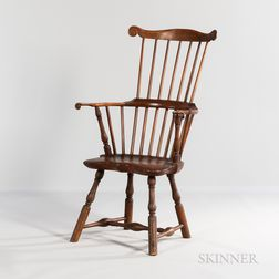 Maple and Pine Comb-back Windsor Armchair