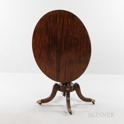 Classical Carved Mahogany Tilt-top Breakfast Table