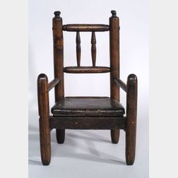 Turned Ash Child's Armchair