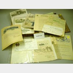 Collection 19th and 20th Century Letterheads, Billheads, and Ephemera