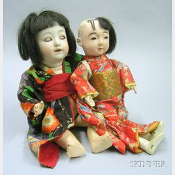 Two Japanese Character Dolls