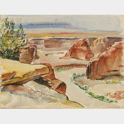 Edna W. Lawrence (American, 1898-1987)      Canyon de Chelly, Arizona