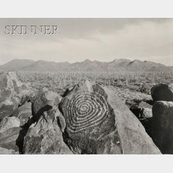 Mark Klett (American, b. 1952)      Spiral Carving Facing East - Signal Hill