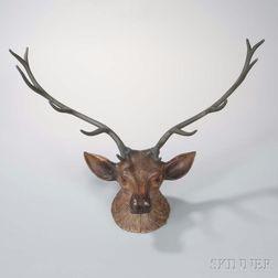 Deer Head Wall Sculpture