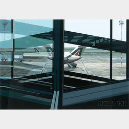 Richard Estes (American, b. 1932)      Flughafen