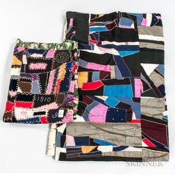 """Two Mennonite """"Crazy"""" Quilts"""