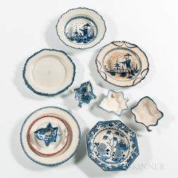Twelve Pearlware Table Items
