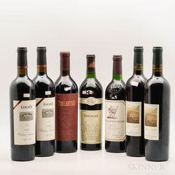 Mixed Napa Wines, 7 bottles