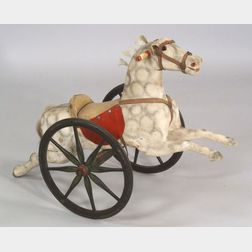Carved and Painted Wooden Child's Riding Horse
