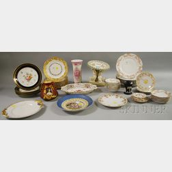 Group of Assorted Decorated Ceramic Table Items and Partial Tableware Sets