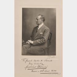 Marconi, Guglielmo (1874-1937) Letter and Photograph, Signed.